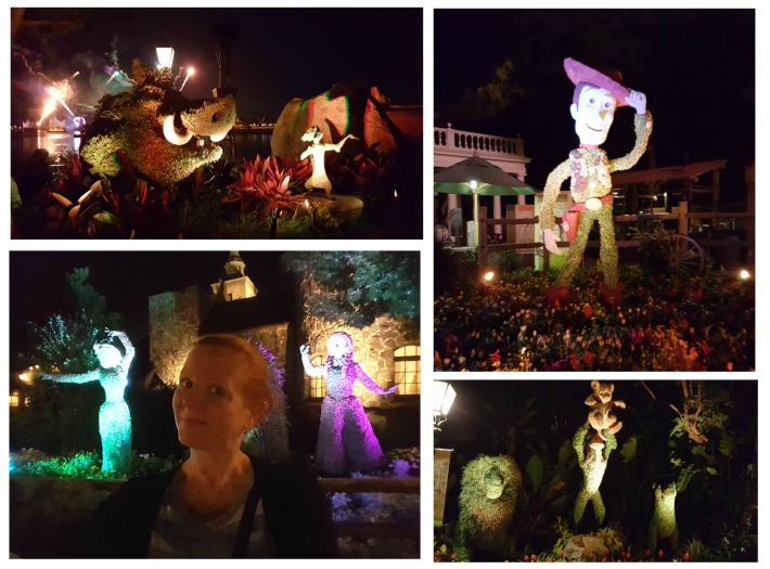 Anna and Elsa Topiaries Walt Disney World